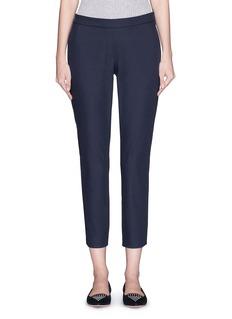 THEORY'Thaniel' elastic waist twill pants