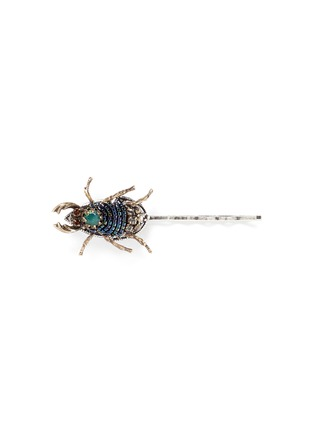 Main View - Click To Enlarge - Miriam Haskell - Swarovski crystal seed bead beetle hair clip