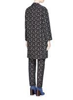 'Rosh' Lurex geometric dot brocade coat