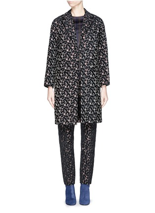 首图 - 点击放大 - DRIES VAN NOTEN - 'Rosh' Lurex geometric dot brocade coat