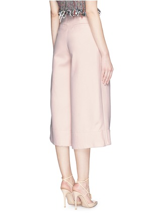 Back View - Click To Enlarge - Nicholas - Double bonded crepe wide culottes