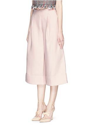 Front View - Click To Enlarge - Nicholas - Double bonded crepe wide culottes