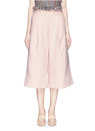 Main View - Click To Enlarge - Nicholas - Double bonded crepe wide culottes