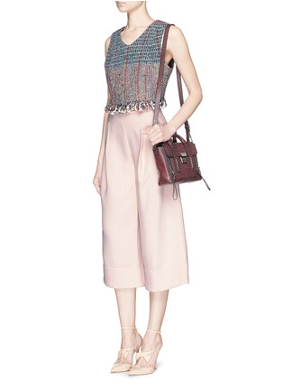 Figure View - Click To Enlarge - Nicholas - Double bonded crepe wide culottes