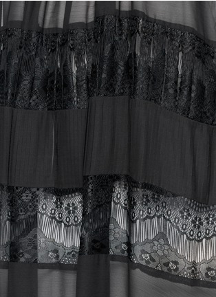Detail View - Click To Enlarge - alice + olivia - 'Dejas' lace pleat trapeze dress
