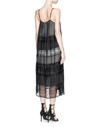 Back View - Click To Enlarge - alice + olivia - 'Dejas' lace pleat trapeze dress