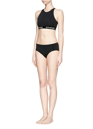 Figure View - Click To Enlarge - Beth Richards - 'Fel' logo cropped swim top