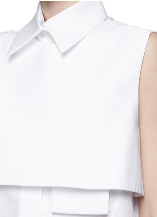 Detail View - Click To Enlarge - Ellery - 'Monsoon' bodice overlay poplin shirt dress