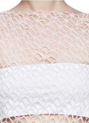 Detail View - Click To Enlarge - Ellery - 'Jasper' crochet web lace drape top