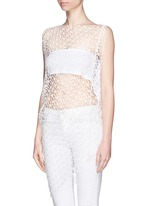 'Jasper' crochet web lace drape top