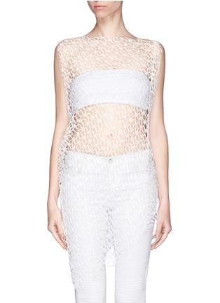 Main View - Click To Enlarge - Ellery - 'Jasper' crochet web lace drape top