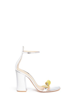 Main View - Click To Enlarge - Gianvito Rossi - Strass ornament mirror leather sandals