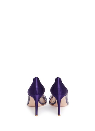 Back View - Click To Enlarge - Gianvito Rossi - 'Plexi' clear PVC satin pumps
