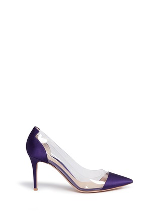 Main View - Click To Enlarge - Gianvito Rossi - 'Plexi' clear PVC satin pumps