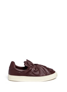 PORTS 1961 Twist bow leather skate slip-ons