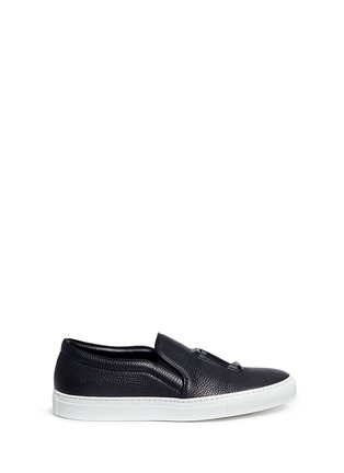 Joshua Sanders - '23' embossed leather skate slip-ons