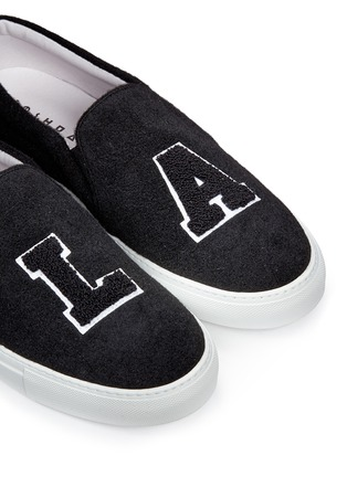 Detail View - Click To Enlarge - Joshua Sanders - 'L.A' felt skate slip-ons