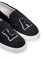 'L.A' felt skate slip-ons
