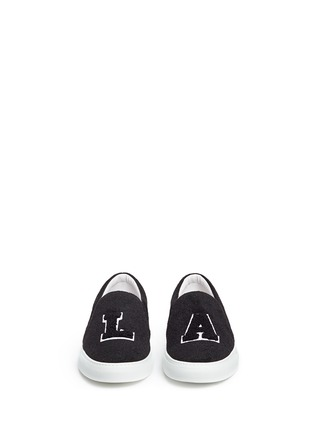 Front View - Click To Enlarge - Joshua Sanders - 'L.A' felt skate slip-ons