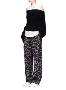 Song for the Mute 'Lunar' moon print wide leg pants