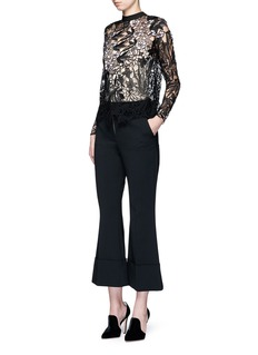 self-portrait 'Vine' floral guipure lace top