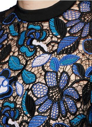 Detail View - Click To Enlarge - self-portrait - 'Celeste' floral guipure lace dress