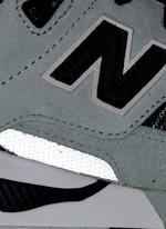 '530 Summer Utility' stripe print suede mesh sneakers