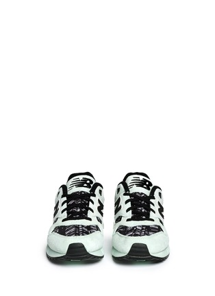 Front View - Click To Enlarge - New Balance - '530 Summer Utility' stripe print suede mesh sneakers