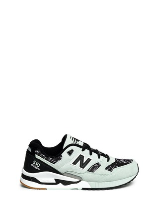 Main View - Click To Enlarge - New Balance - '530 Summer Utility' stripe print suede mesh sneakers