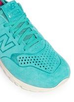 '580' mesh sock suede sneakers