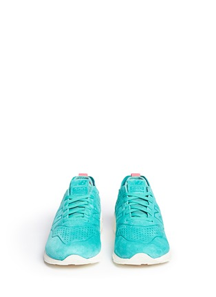 Front View - Click To Enlarge - New Balance - '580' mesh sock suede sneakers
