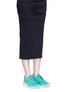 New Balance'580' mesh sock suede sneakers