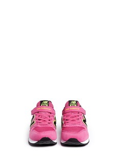 New Balance'996' textile strap kids sneakers