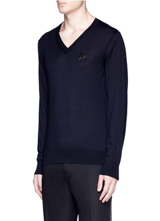 Dolce & Gabbana - Crystal bee embroidery cashmere sweater