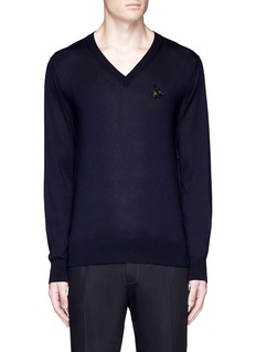 Dolce & Gabbana Crystal bee embroidery cashmere sweater