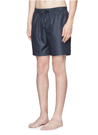 Figure View - Click To Enlarge - Dolce & Gabbana - Micro polka dot print swim shorts