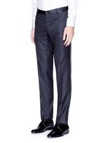 'Martini' satin trim wool jacquard tuxedo suit