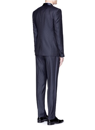 Back View - Click To Enlarge - Dolce & Gabbana - 'Martini' satin trim wool jacquard tuxedo suit