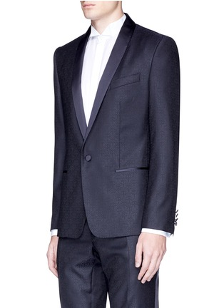 Front View - Click To Enlarge - Dolce & Gabbana - 'Martini' satin trim wool jacquard tuxedo suit