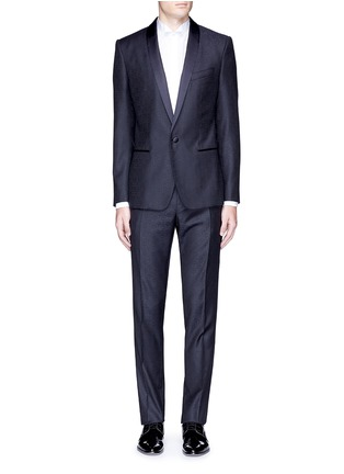 Main View - Click To Enlarge - Dolce & Gabbana - 'Martini' satin trim wool jacquard tuxedo suit