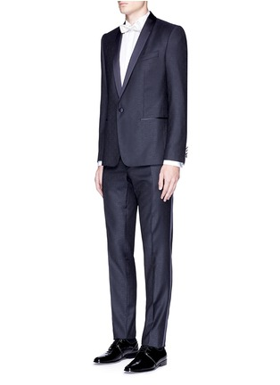 Figure View - Click To Enlarge - Dolce & Gabbana - 'Martini' satin trim wool jacquard tuxedo suit