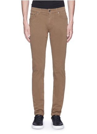 Main View - Click To Enlarge - Dolce & Gabbana - 'Stretch 16' slim fit chinos
