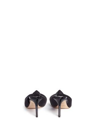 背面 - 点击放大 - GIUSEPPE ZANOTTI DESIGN - Coline扭结设计天鹅绒高跟凉鞋
