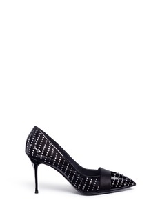 Giuseppe Zanotti Design 'Lucrezia' strass embellished patent leather pumps