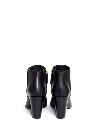 Back View - Click To Enlarge - Giuseppe Zanotti Design - 'Nicky' leather ankle boots
