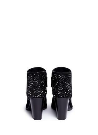 背面 - 点击放大 - GIUSEPPE ZANOTTI DESIGN - NICKY仿水晶绒面皮短靴