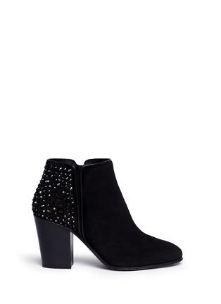 首图 - 点击放大 - GIUSEPPE ZANOTTI DESIGN - NICKY仿水晶绒面皮短靴