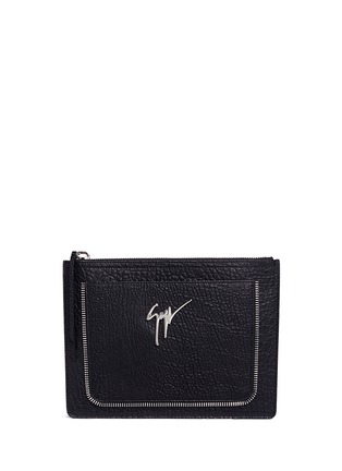 Main View - Click To Enlarge - Giuseppe Zanotti Design - Grainy leather document holder
