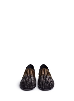 Front View - Click To Enlarge - Giuseppe Zanotti Design - 'Nate' dégradé crystal suede slip-ons