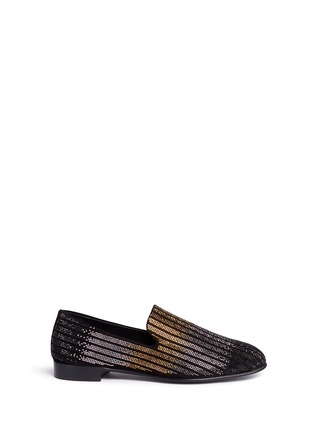 Main View - Click To Enlarge - Giuseppe Zanotti Design - 'Nate' dégradé crystal suede slip-ons